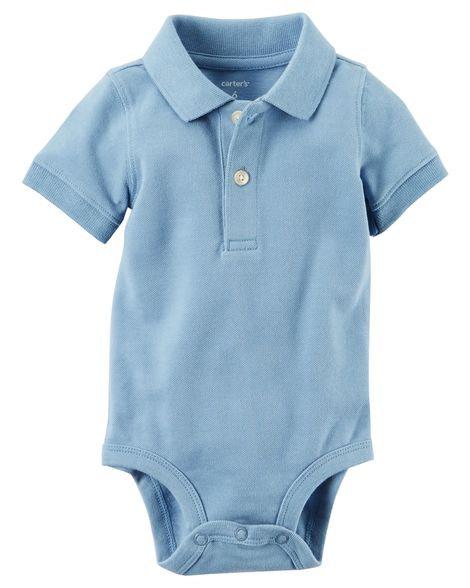 Carter's Piqué Polo Bodysuit L/Blue