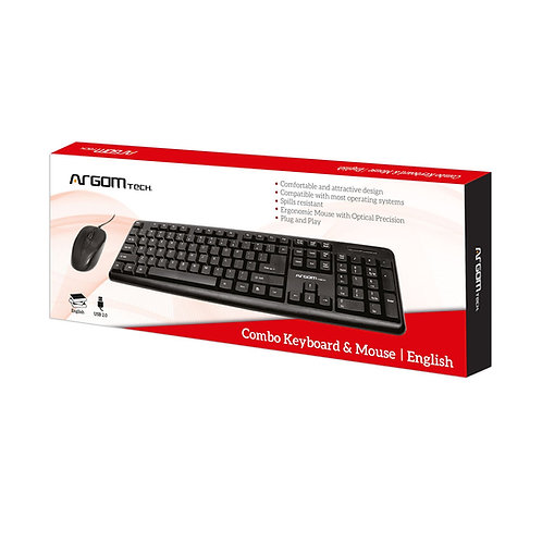 Argom Wired Keyboard & Mouse Combo