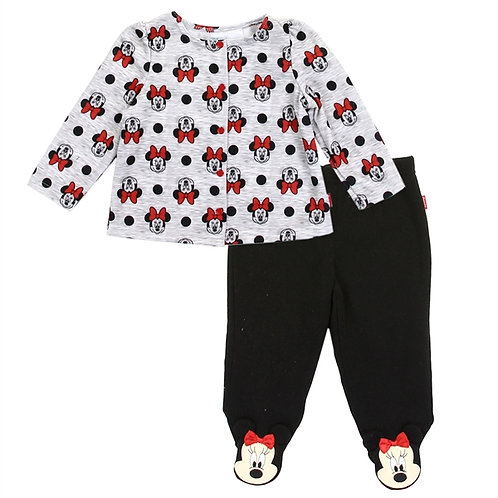 MINNIE MOUSE Girls Newborn 2-Piece Fleece Jacket Set