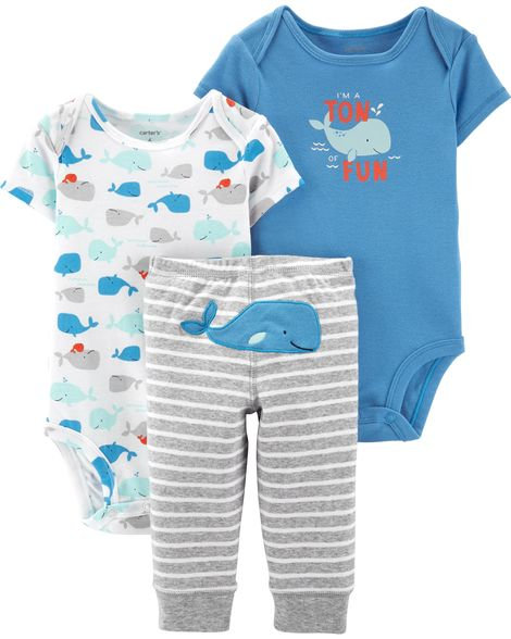 Carter's 3-Piece Whale Little Character Set