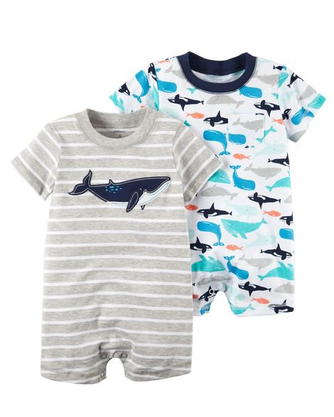 Carter's 2-Pack Whale Rompers