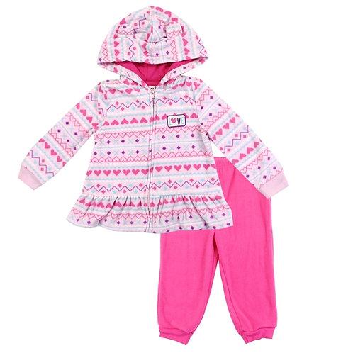 WEEPLAY Girls Microfleece Jacket Set
