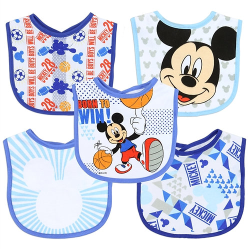 MICKEY MOUSE 5-Pack Baby Bibs