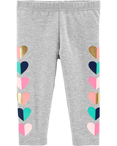 Carter's Heart Print Capri Leggings