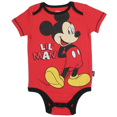 MICKEY MOUSE Boys Newborn/Infant Creeper