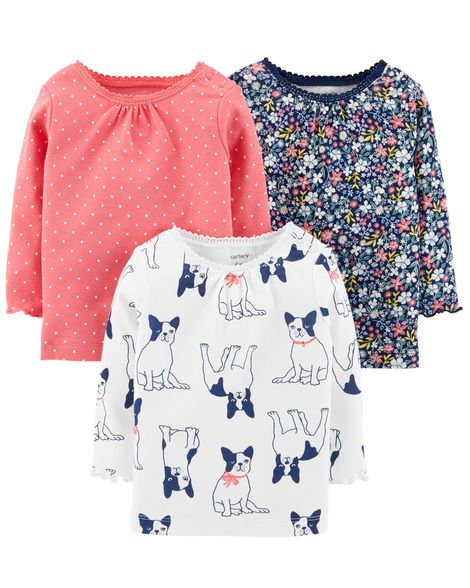 Carter's 3-Pack Long-Sleeve Tees