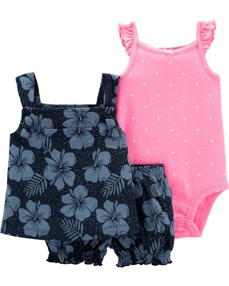 Carter's 3-Piece Floral Little Short Set
