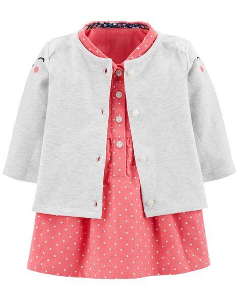Carter's 2-Piece Dress & Cardigan Set