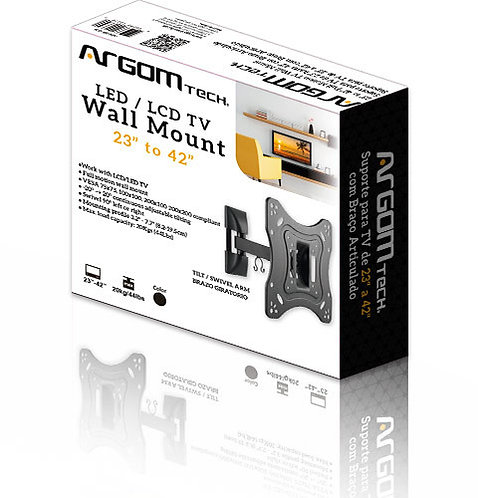 Argom TV Wall Mount 23''-42'' Full Motion Swivel