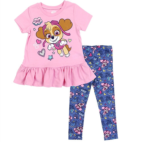 PAW PATROL Girls Toddler 2-Piece Legging Set