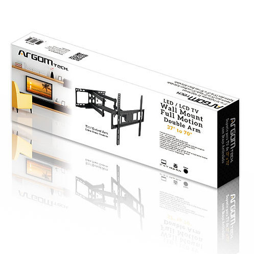 Argom TV Wall Mount 37''-80'' Full Motion Swivel