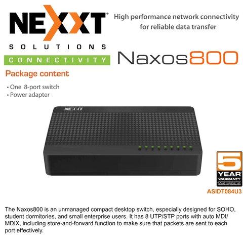 Nexxt Naxos 800 8 Port Network Switch