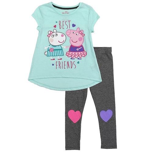 PEPPA PIG Girls Toddler 2-Piece Legging Set