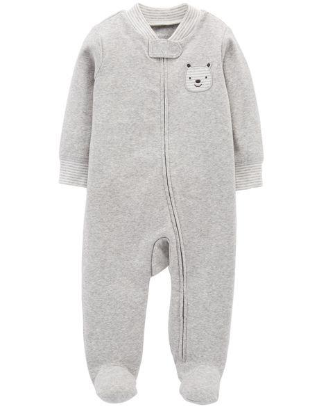 Carter's Bear Zip-Up Cotton Sleep & Play