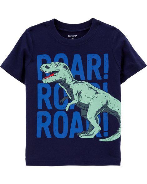 Carter's T-Rex Roar Jersey Tee
