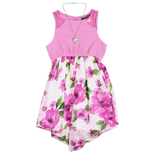 RMLA Girls Chiffon Dress W/ Necklace