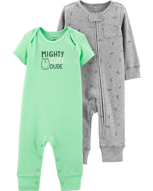 Carter's 2-Pack Dinosaur Jumpsuits