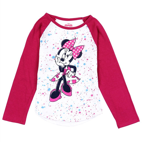 MINNIE MOUSE Girls Toddler L/S Top