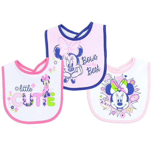 MINNIE MOUSE 3-Pack Baby Bibs