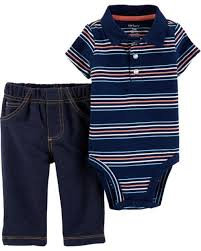 Carter's 2-Piece Polo Style Bodysuit Pant Set