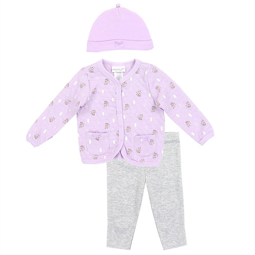 WEEPLAY Girls 3PC Quilted Jacket Set