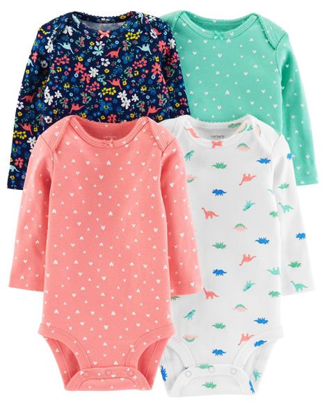 Carter's 4-Pack Long-Sleeve Original Bodysuits