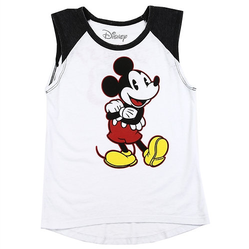 MICKEY MOUSE Girls Front/Back Print Tank Top