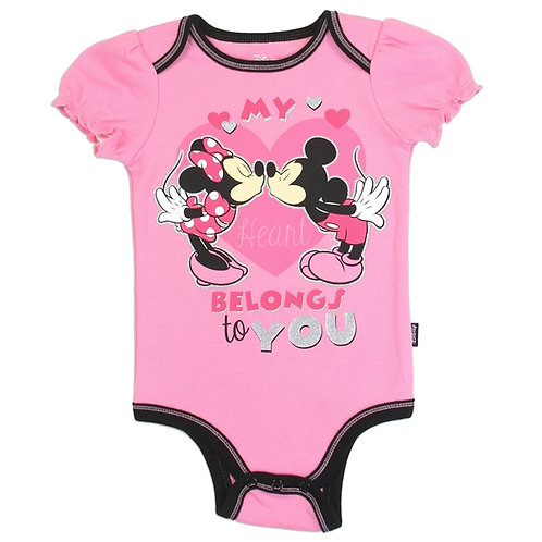 MINNIE MOUSE Girls Newborn/Infant Creeper