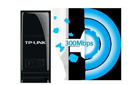 TP-LINK 300Mbps Mini Wireless N USB Adapter