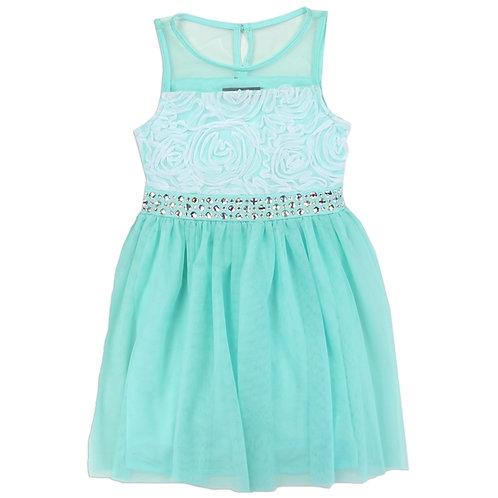 RMLA Girls Rose Mesh Holiday Dress