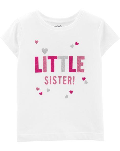 Carter's Glitter Little Sister Jersey Tee