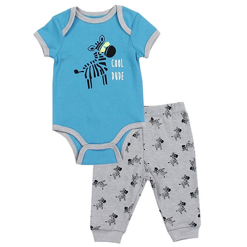 BLOOMIN' BABY Boys Newborn 2PC Pant Set Size