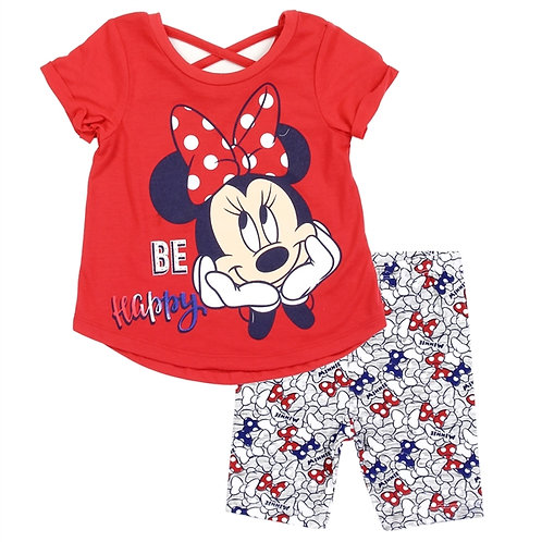 MINNIE MOUSE Girls Toddler 2PC Bike Short Set