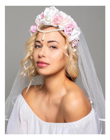 Teardrop Bridal Flower Crown