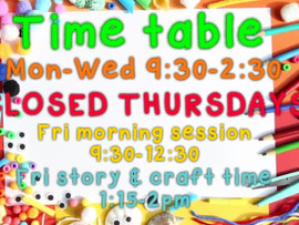 New timetable starting next week ✂🖍🖌🎨 Please share thank you