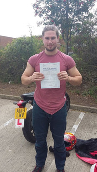 Belated congratulations to Dan Blackwell on passing his A2 on Friday afternoon with zero faults. Well done!