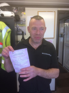 It's a wet day but clients are smiling! Especially Jason Neal. Massive congratulations on getting that mod1.
