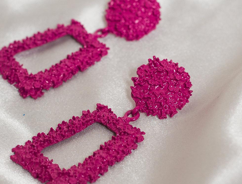 Make the Girls Wink Pink Egyptian Earrings