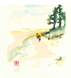 'Walking with Ann' Holkham Beach'