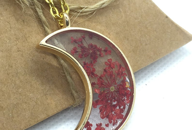 Personalised Moon Crescent Necklace