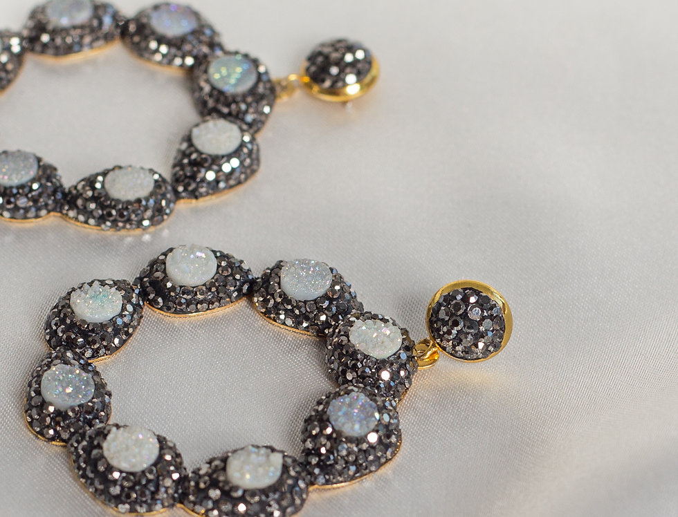 Galaxy Halo Circle Earrings