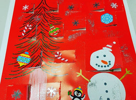 I've made an example advent calendar ready for tonight's arts & crafts club behind each