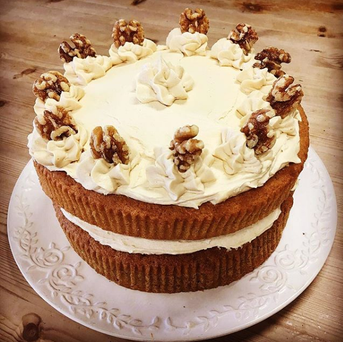 Coffee comes in more than one form here at the Olive Tree Cafe. This homemade coffee cake is just one of the many sweet treats we have on offer.