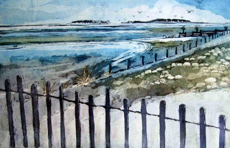 'Wells next the Sea, Tide coming in'
