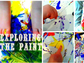 Exploring paint is the new theme, we will be running this theme this week and next and have lots of