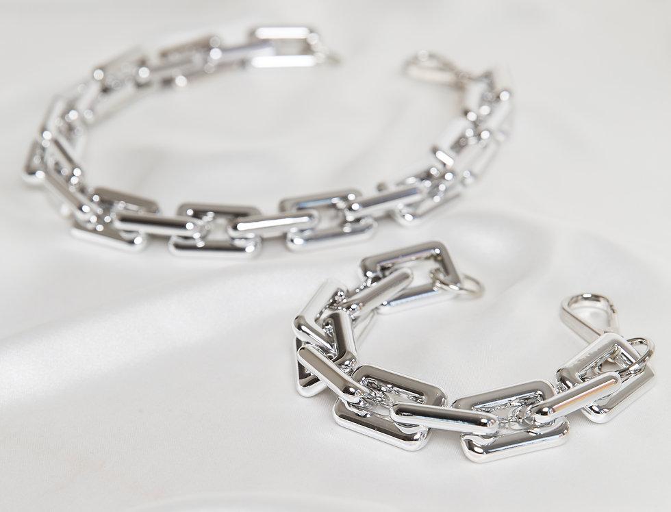 Silver Louis Chain & Bracelet