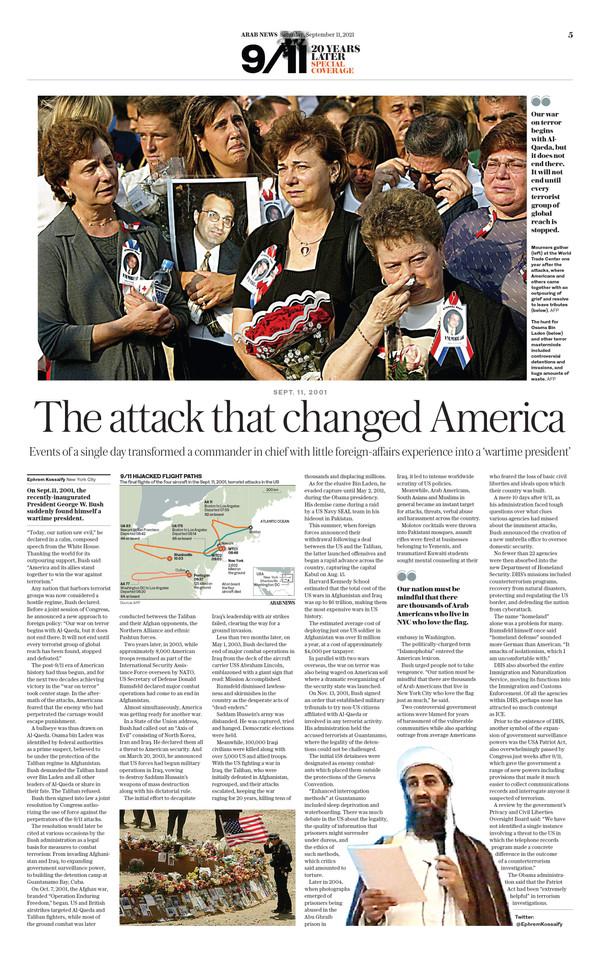 Arab News 9/11/21 (page 5)