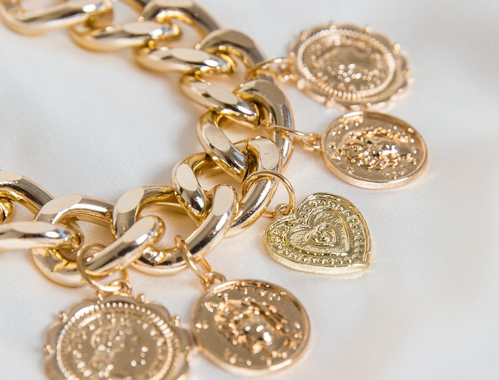 Lucky Charm Curb Bracelet