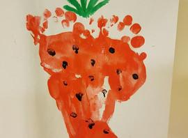 Strawberry Footprints!