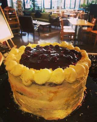 Homemade cherry and lemon sponge cake. We'll just leave this here...
